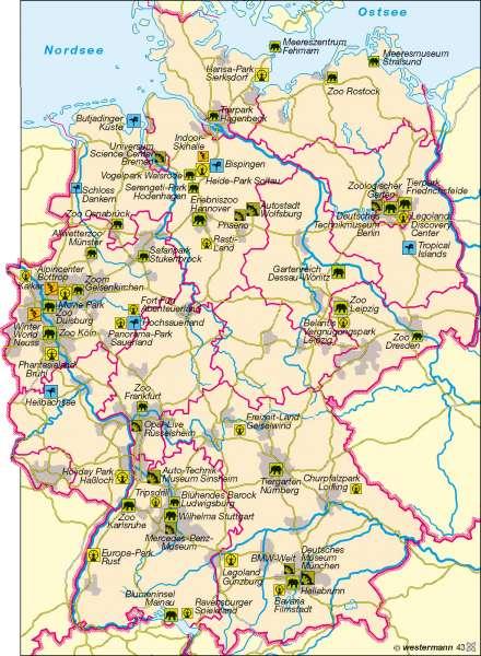 Erlebnistourismus |  | Deutschland – Tourismus | Karte 47/2