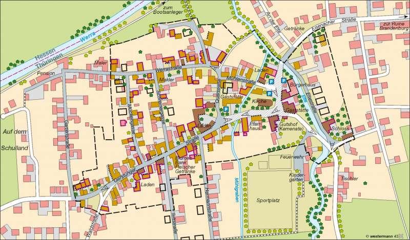 Lauchröden | Dorferneuerung | Deutschland – Wandel ländlicher und städtischer Siedlungen | Karte 54/3