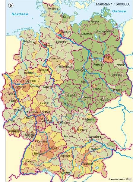 Ausländische Bevölkerung |  | Deutschland – Bevölkerung | Karte 57/6