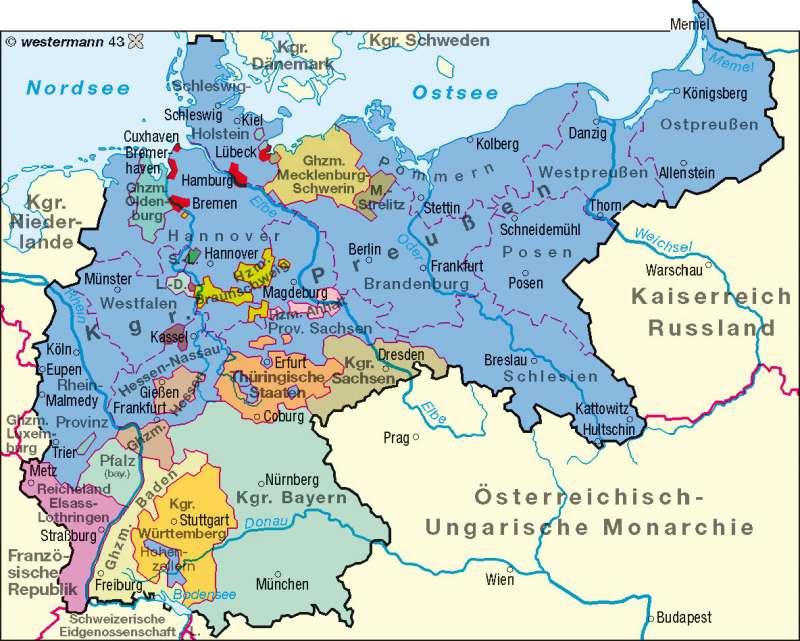 Deutsches Reich 1900      Deutschland – politisch   Karte 58/1