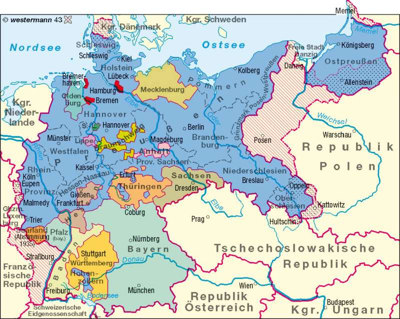 Deutsches Reich 1937 |  | Deutschland – politisch | Karte 58/2