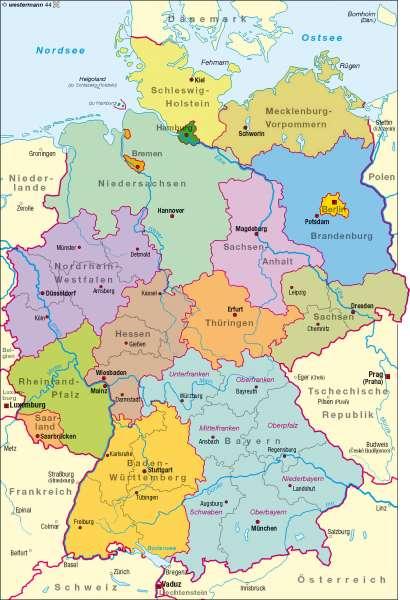 Diercke Weltatlas Kartenansicht Bundesrepublik Deutschland