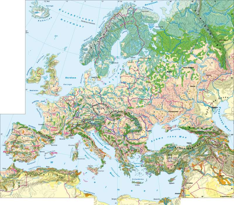 Europa   Landwirtschaft   Europa – Landwirtschaft   Karte 66/1