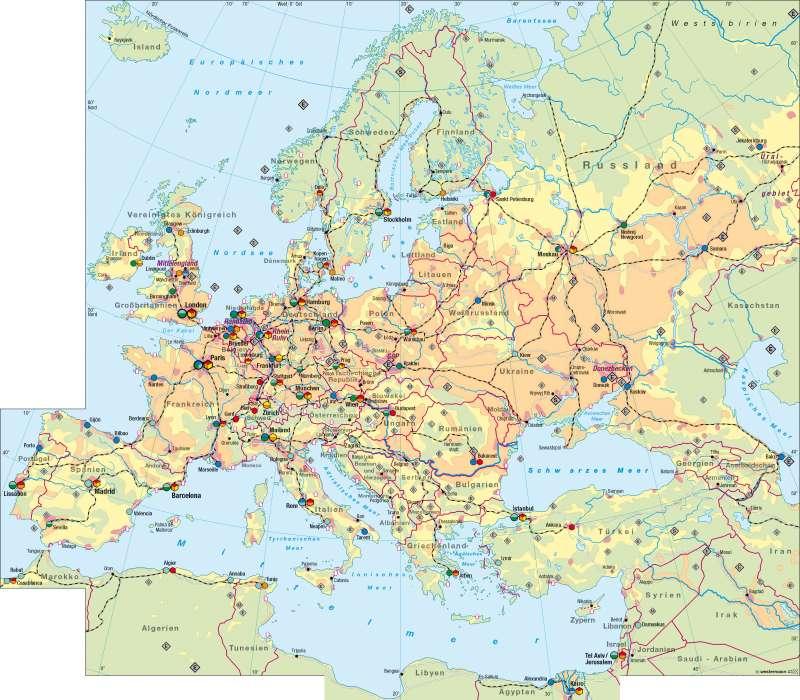 Diercke Weltatlas - Kartenansicht - Europa - Wirtschaft - 100750 ...
