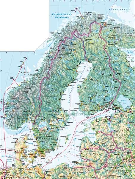 Diercke Weltatlas Kartenansicht Skandinavien Wirtschaft