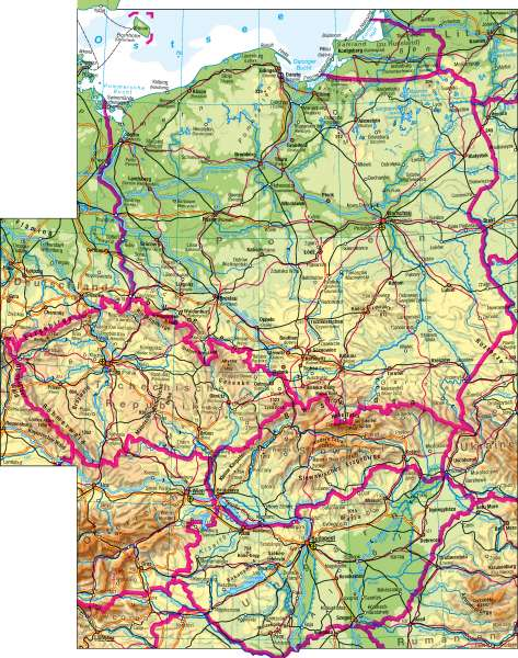 Mittelosteuropa | physisch | Mittelosteuropa – physisch | Karte 74/1