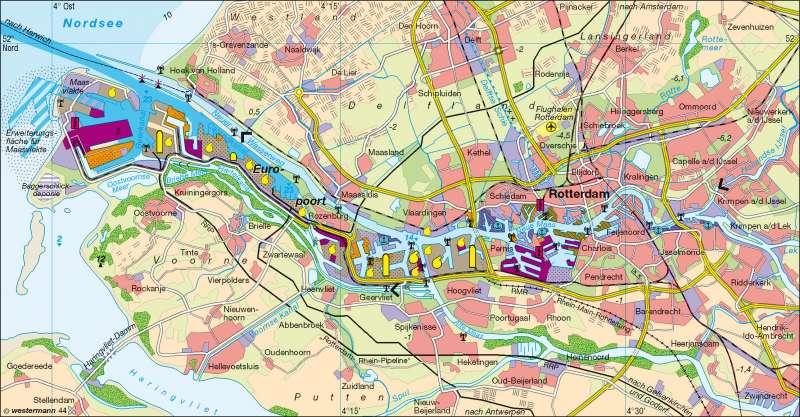 Diercke Weltatlas Kartenansicht Rotterdam Europoort 100750
