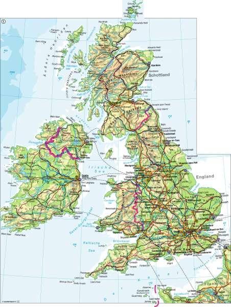 Britische Inseln   physisch   Britische Inseln – physisch   Karte 84/1