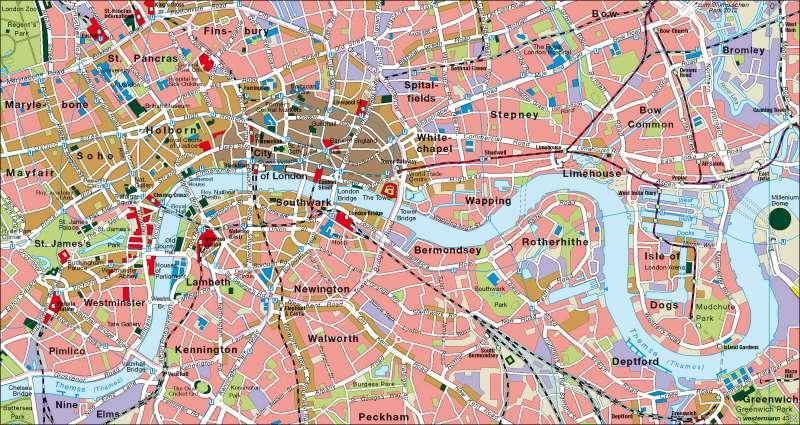 London | Innenstadt | England | Karte 85/2