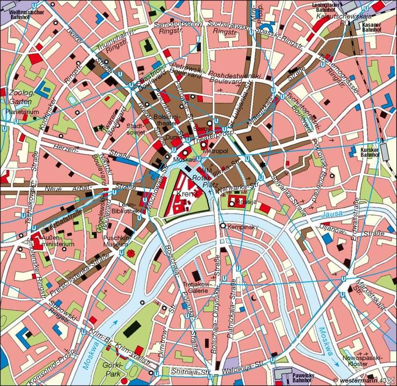 Moskau | innere Stadt | Osteuropa – Wirtschaft/Moskau | Karte 98/2