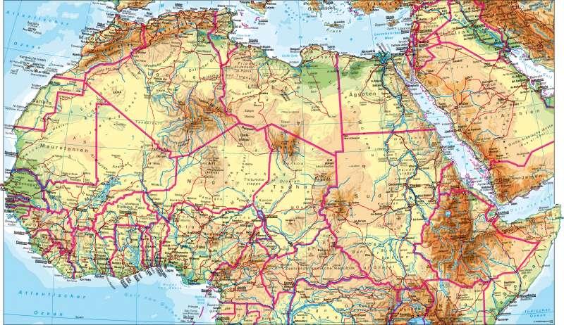 Afrika nördlicher Teil | physisch | Afrika nördlicher Teil – physisch | Karte 106/1