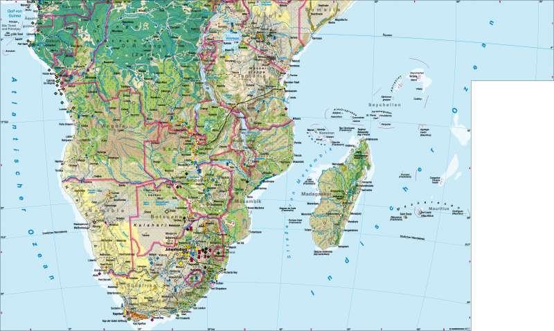 Afrika südlicher Teil | Wirtschaft | Afrika südlicher Teil – Wirtschaft | Karte 112/1
