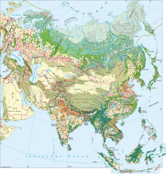 Landwirtschaft |  | Asien – Landwirtschaft | Karte 116/5