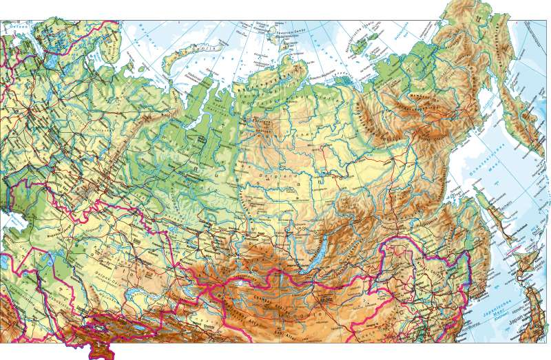 Nordasien | physisch | Nordasien – physisch | Karte 118/1