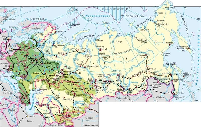 Sibirien   Erschließung   Sibirien   Karte 122/1