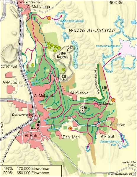Al Hasa | Quelloase | Golfstaaten | Karte 127/1