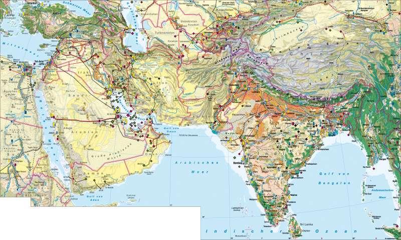 West- und Südasien   Wirtschaft   West- und Südasien – Wirtschaft   Karte 128/1