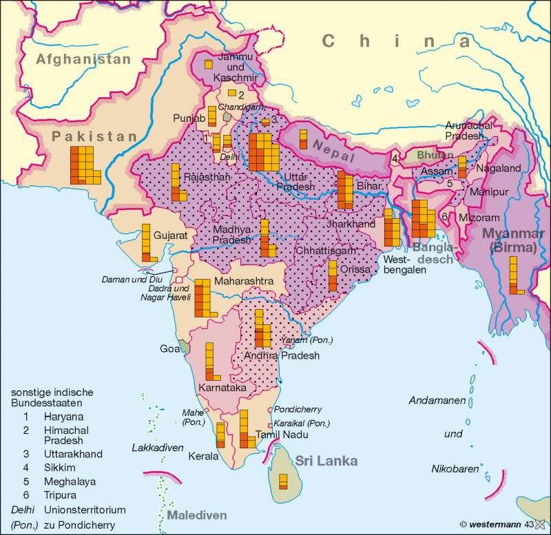 Südasien Karte.Diercke Weltatlas Kartenansicht Südasien