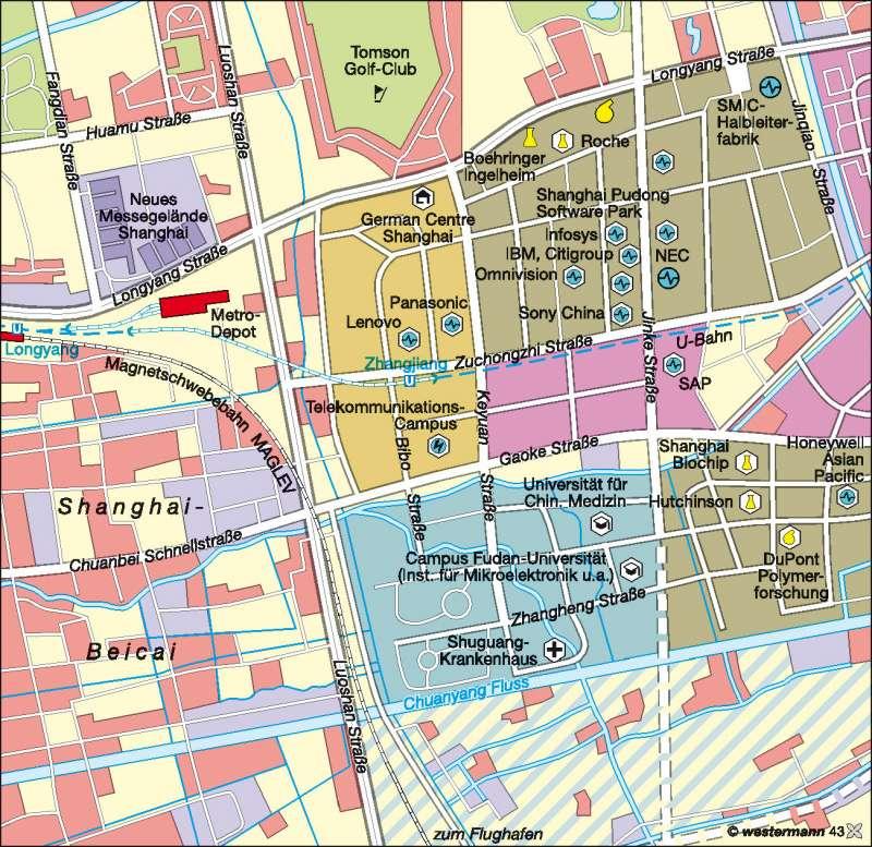 Pudong | Freihandelszone | China | Karte 131/3