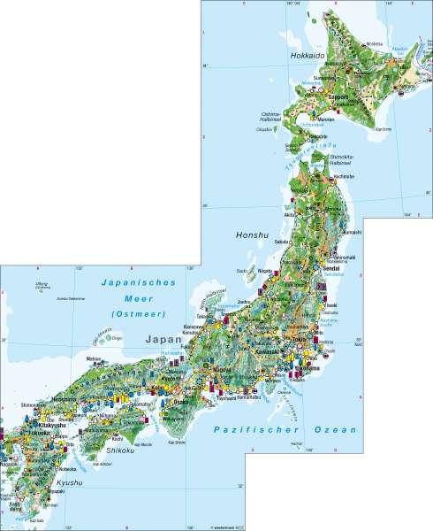 Diercke Weltatlas Kartenansicht Japan Wirtschaft 100750