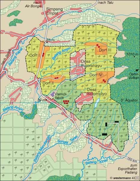 Ophir (West-Sumatra)   Ölpalmenplantage   Singapur/Indonesien   Karte 141/2