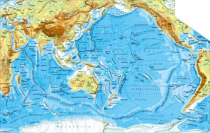 Atlantischer Und Pazifischer Ozean