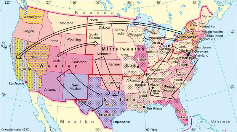 Minderheiten |  | USA – Bevölkerung | Karte 152/2