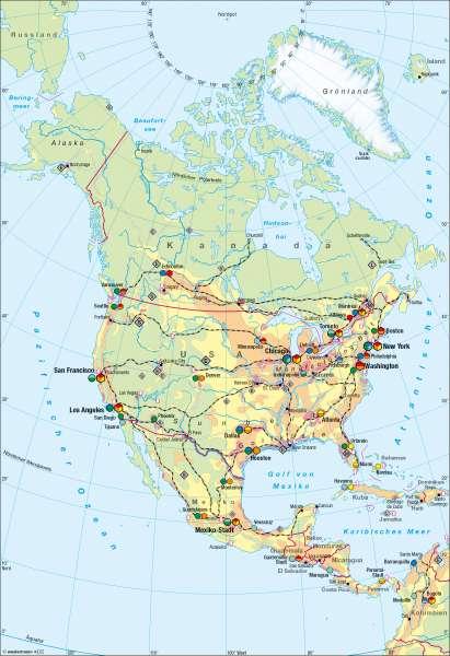 Nord- und Mittelamerika | Wirtschaft | Nord- und Mittelamerika – Wirtschaft | Karte 153/1