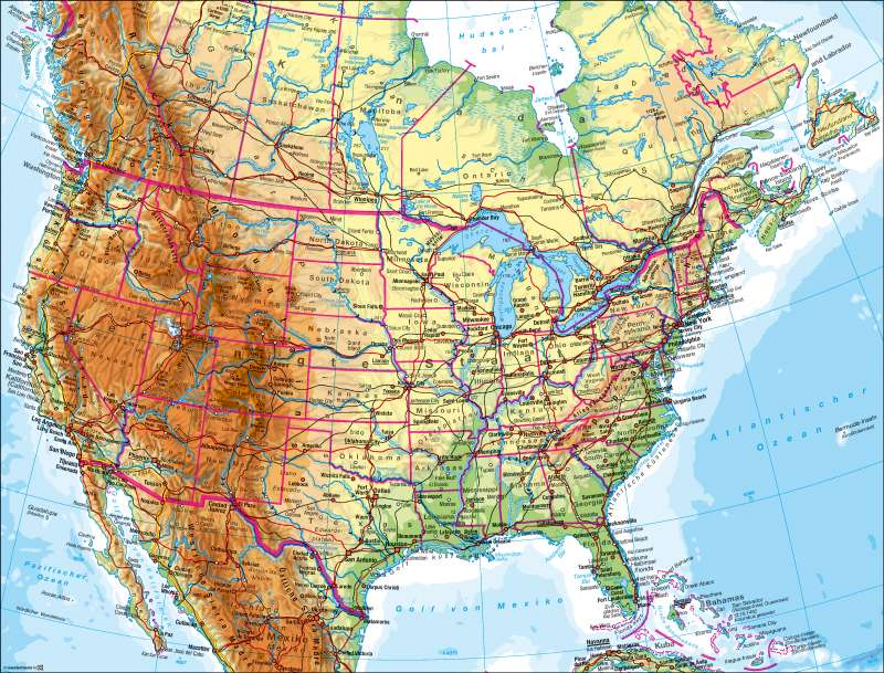 Diercke Weltatlas - Kartenansicht - Vereinigte Staaten von Amerika ...