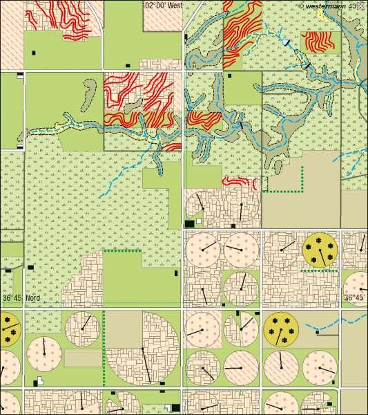 Texhoma | Landnutzung | USA/Kanada – Wirtschaft | Karte 156/2