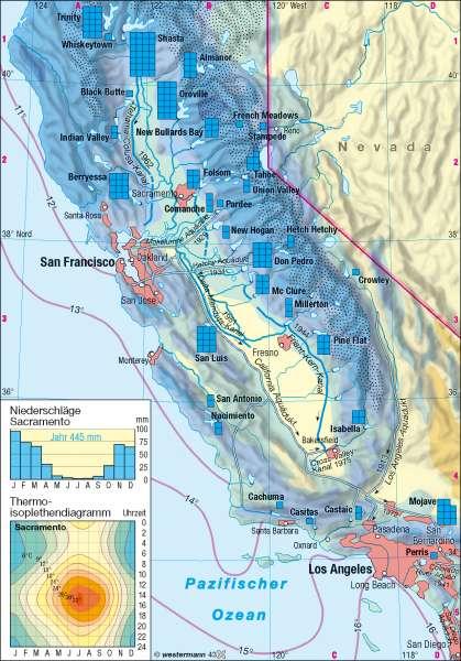 Kalifornien | Wasserwirtschaft | Kalifornien | Karte 160/2