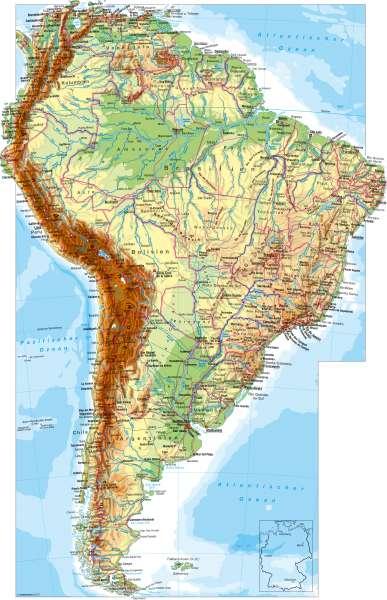 Lateinamerika Karte Gebirge.Diercke Weltatlas Kartenansicht Südamerika Physisch 100750
