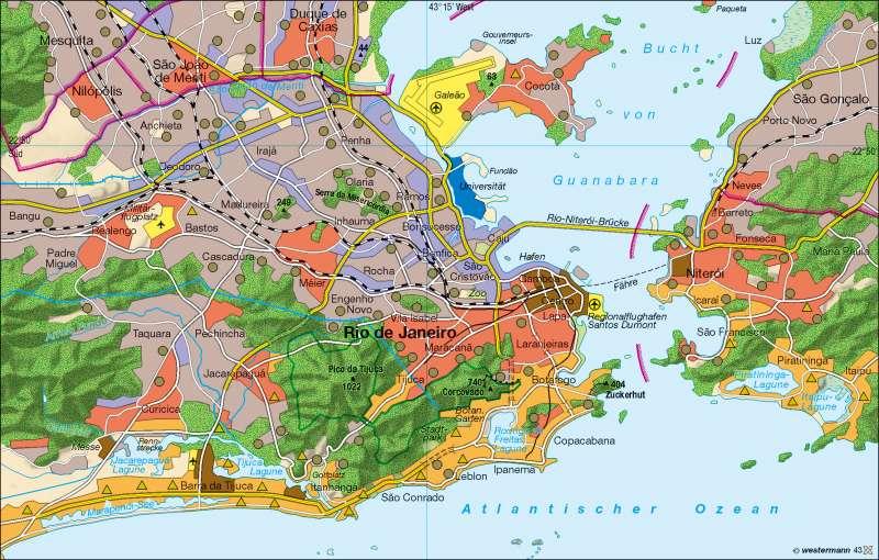 Rio de Janeiro   Segregation   Südamerika – Klima/Brasilien   Karte 169/6