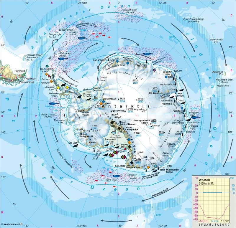 Südpolargebiet (Antarktis) |  | Polargebiete | Karte 171/4