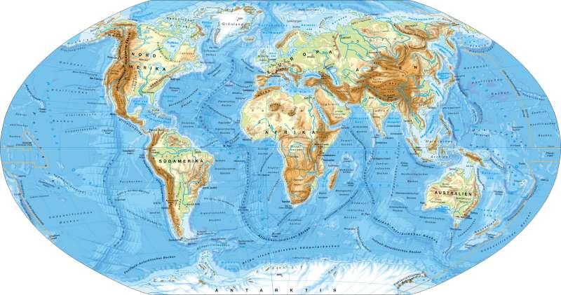 Erde | physische Übersicht | Erde – physische Übersicht | Karte 172/1