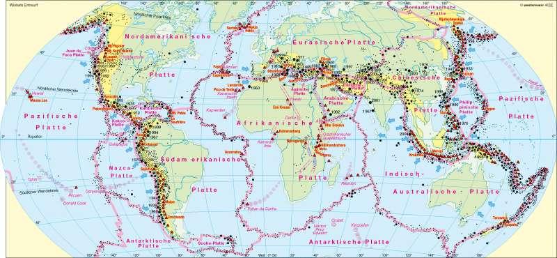Diercke Weltatlas - Kartenansicht - Erdbeben und Vulkanismus ...
