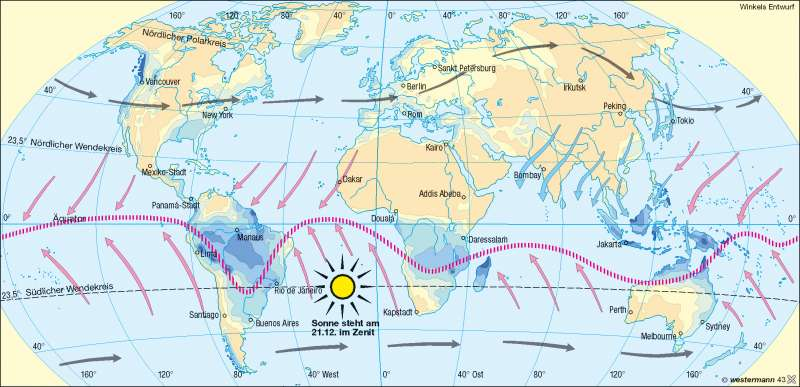 Niederschläge im Januar |  | Erde – Klima | Karte 177/3