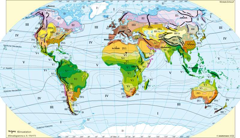 Jahreszeitenklimate nach Troll/Paffen |  | Erde – Klima | Karte 178/1