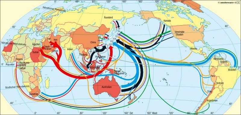 Japan | Rohstoffabhängigkeit | Erde – Welthandel | Karte 185/3