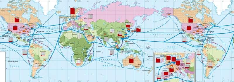 Globalisierte Wirtschaft |  | Erde – Globalisierung | Karte 186/1
