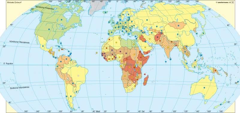 Ernährung/Bildung/Gesundheit |  | Erde – Entwicklungsstand | Karte 192/2