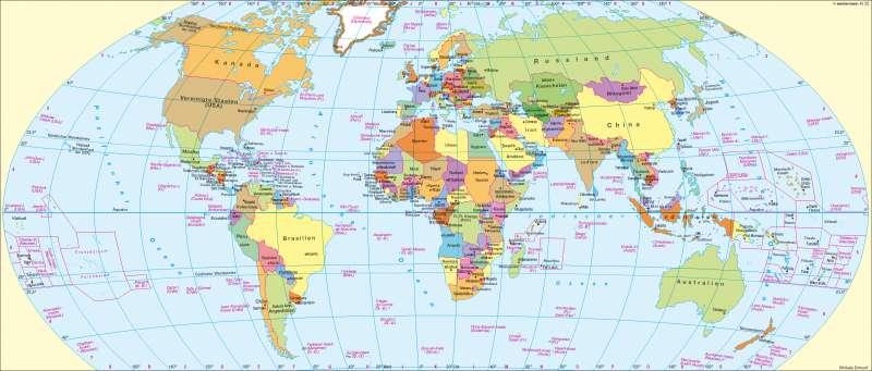 weltkarte staaten Diercke Weltatlas   Kartenansicht   Staaten     100750   194   1   0 weltkarte staaten