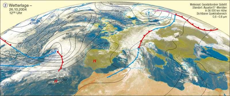 Wetterlage   26.10.2004   Erdatmosphäre/Wetterbeobachtung   Karte 226/2