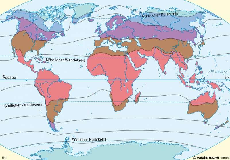 Thermische Klimazonen |  | Erde - Klima | Karte 12/1