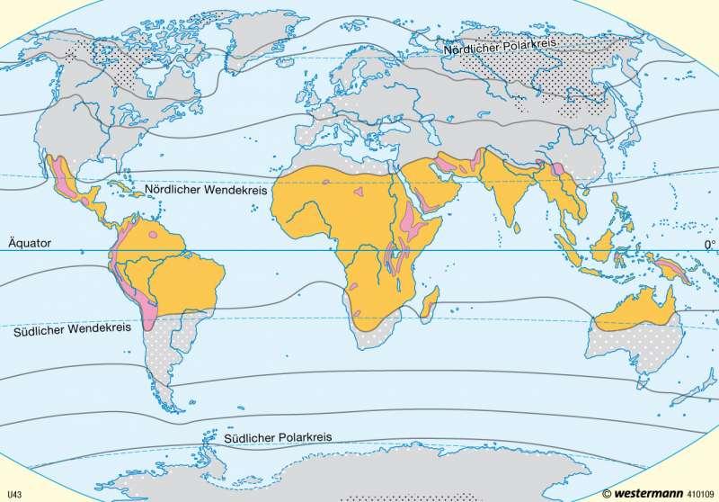 Jahreszeitenklima und Tageszeitenklima      Erde - Klima   Karte 13/3
