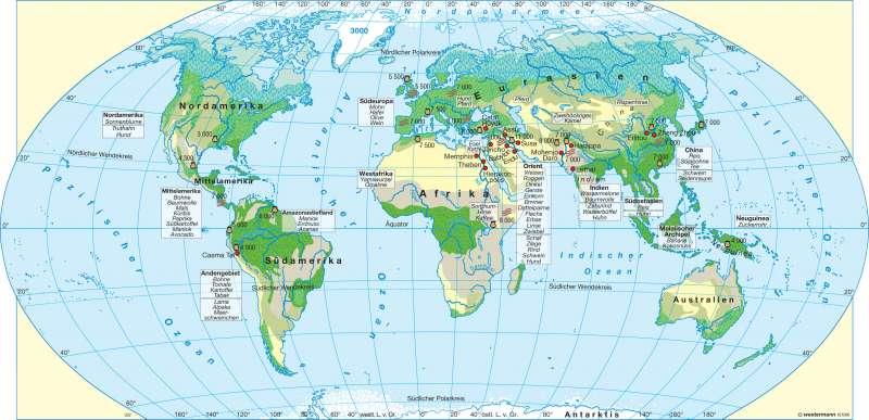 Neolithische Revolution und die Anfänge der Hochkultur |  | Erde - Ur- und Frühgeschichte | Karte 18/2