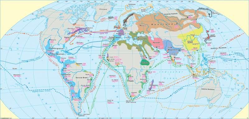 Erde | Entdeckungsreisen und koloniale Eroberungen (15. Jahrhundert bis Mitte 17. Jahrhundert) | Erde - Geographische Entdeckungen | Karte 20/2