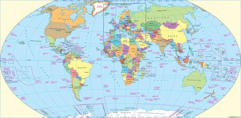 Diercke Weltatlas Kartenansicht Erde Politische Ubersicht