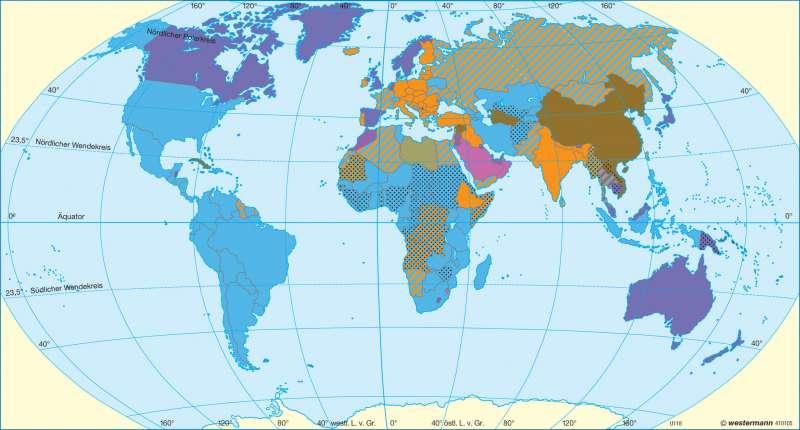 Politische Systeme 2008      Erde - politisch   Karte 26/2
