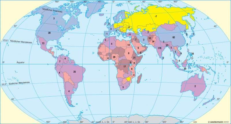 Bevölkerungsentwicklung |  | Erde - Bevölkerung | Karte 30/2
